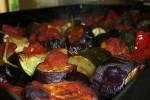Баклажаны печеные с перцем