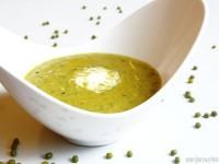 Суп из шпината и маша