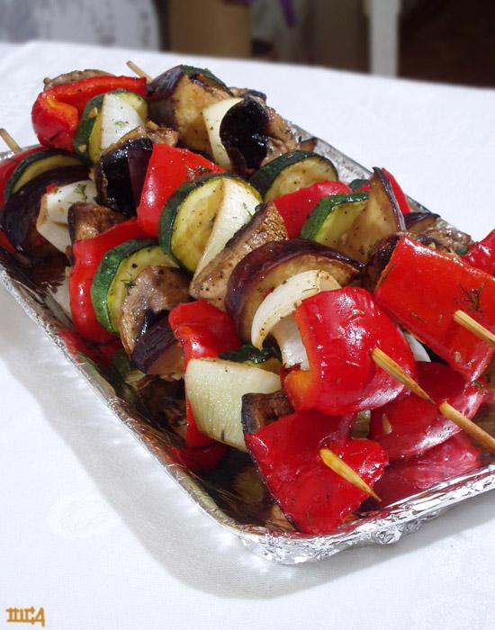 Овощной шашлык, рецепт с фото