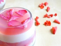 Цветочно-молочный медовый десерт