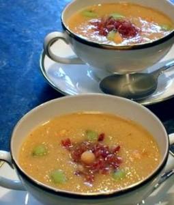 Суп из дыни и киви
