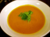 Суп из печеной моркови