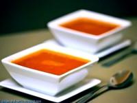 Суп из печенного перца и томатов