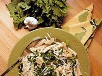 Паста с чесноком и брокколи