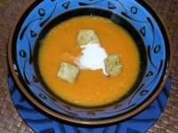 Имбирный суп с морковью и кокосовыми сливками