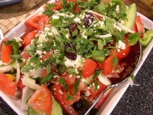 Салат с цуккини и зеленым перцем
