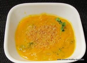 Сладкий картофель в морковном супе
