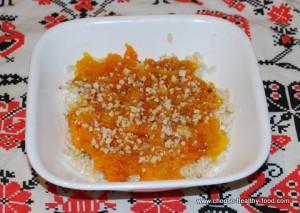 Рис с тыквой сквош
