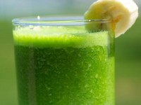 Зеленый лимонад с бананом