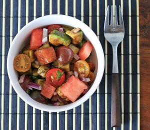 Салат из помидоров и арбузов