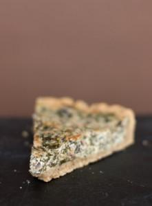 Грибной пирог со шпинатом