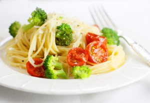 Вермишель с брокколи и сыром пармезан