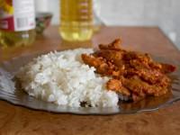 Рис с соевыми кусочками