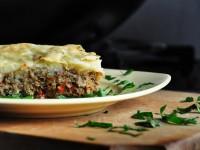 Картофельный пирог с грибной начинкой
