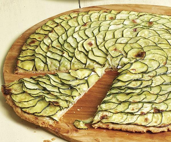 Пирог с цукини и брынзой
