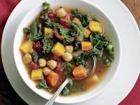 Зимний овощной суп с нутом и сквош
